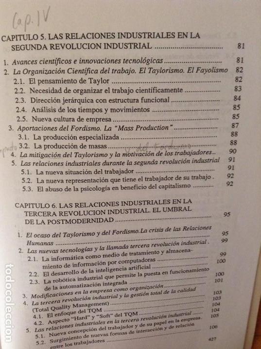 Libros de segunda mano: SOCIOLOGIA DE LAS RELACIONES INDUSTRIALES EN LA SOCIEDAD POSTMODERNA (LUIS SARRIES SANZ) - Foto 9 - 110016671