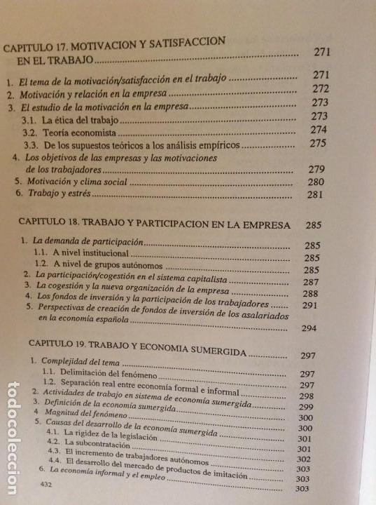Libros de segunda mano: SOCIOLOGIA DE LAS RELACIONES INDUSTRIALES EN LA SOCIEDAD POSTMODERNA (LUIS SARRIES SANZ) - Foto 14 - 110016671