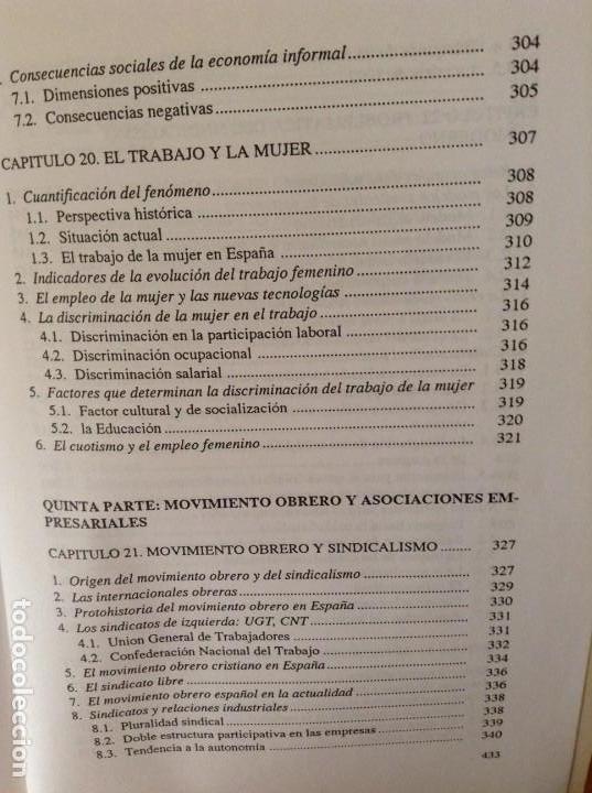 Libros de segunda mano: SOCIOLOGIA DE LAS RELACIONES INDUSTRIALES EN LA SOCIEDAD POSTMODERNA (LUIS SARRIES SANZ) - Foto 15 - 110016671