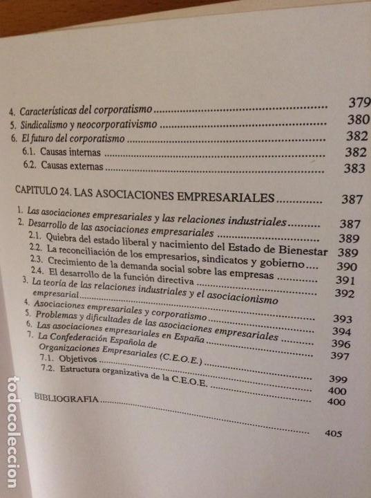 Libros de segunda mano: SOCIOLOGIA DE LAS RELACIONES INDUSTRIALES EN LA SOCIEDAD POSTMODERNA (LUIS SARRIES SANZ) - Foto 17 - 110016671