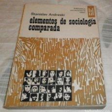 Libros de segunda mano: ELEMENTOS DE SOCIOLOGIA COMPARADA. Lote 110415143
