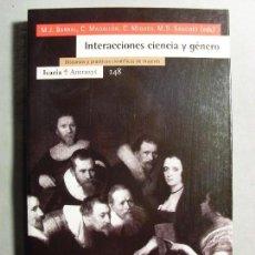 Libros de segunda mano: INTERACCIONES CIENCIA Y GÉNERO / VARIOS AUTORES / 1999. ICARIA. Lote 111062807