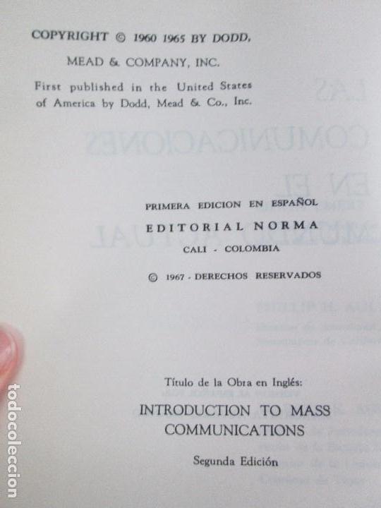 Libros de segunda mano: LAS COMUNICACIONES EN EL MUNDO ACTUAL. EDWIN EMERY. PHILLIP H. AULT. WARREN K. AGEE. 1967 - Foto 8 - 111575303