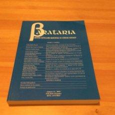Libros de segunda mano: BARATARIA. REVISTA CASTELLANO-MANCHEGA DE CIENCIAS SOCIALES.. Lote 113000216