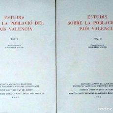 Libros de segunda mano: ESTUDIS SOBRE LA POBLACIÓ DEL PAÍS VALENCIÀ.. Lote 113101027
