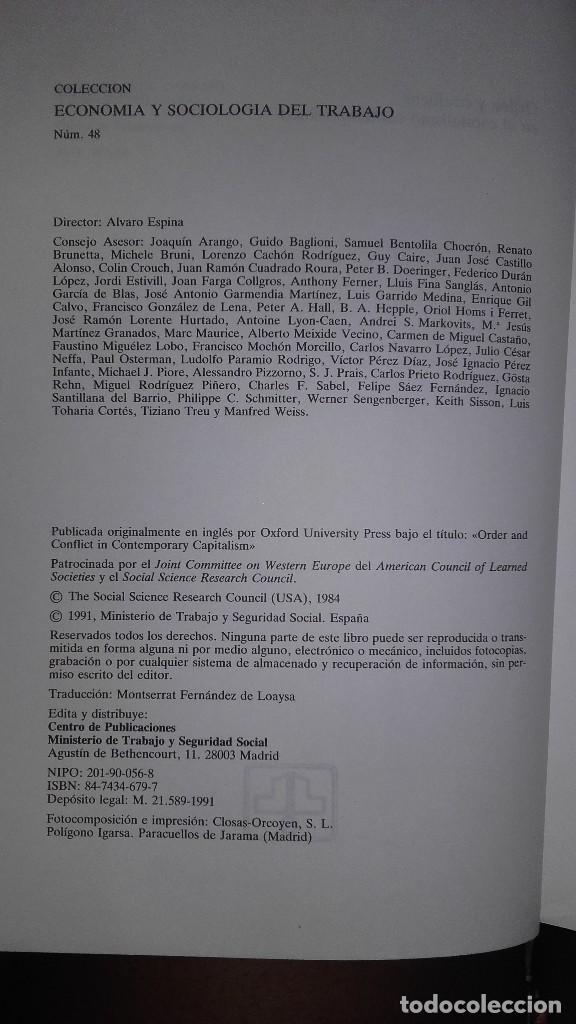 Libros de segunda mano: Orden y conflicto en el capitalismo contemporaneo - Estudios economía política -John H. Goldthorpe - Foto 2 - 115057187