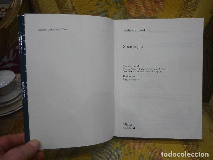 Libros de segunda mano: SOCIOLOGÍA, DE ANTHONY GIDDENS. ALIANZA UNIVERSIDAD 1.992. - Foto 3 - 116635359