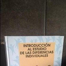 Libros de segunda mano: INTRODUCCION AL ESTUDIO DE LAS DIFERENCIAS INDIVIDUALES. ANGELES SANCHEZ-ELVIRA PANIAGUA. SANZ Y TOR. Lote 117097435