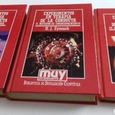 Libros de segunda mano: EXPERIMENTOS EN TERAPIA DE LA CONDUCTA.3 TOMOS.MUY INTERESANTE.EYSENCK. Lote 117122288