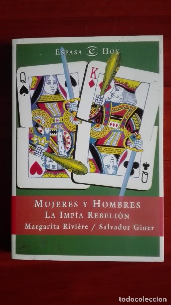 MARGARITA RIVIERE SALVADOR GINER MUJERES Y HOMBRES (Libros de Segunda Mano - Pensamiento - Sociología)