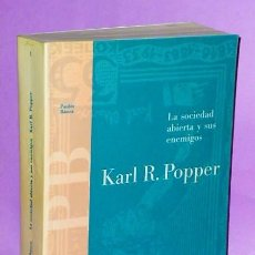 Libros de segunda mano: LA SOCIEDAD ABIERTA Y SUS ENEMIGOS.. Lote 120158551