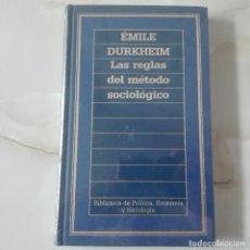 Libros de segunda mano: LAS REGLAS DEL METODO SOCIOLOGICO EMILE DURKHEIM NUEVO AUN ESTA PLASTIFICADO. Lote 120440447