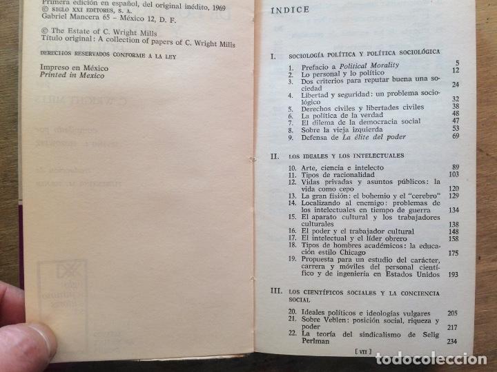 Libros de segunda mano: DE HOMBRES SOCIALES Y MOVIMIENTOS POLÍTICOS. C. WRIGHT MILLS. (FILOSOFÍA POLÍTICA) - Foto 3 - 121971807