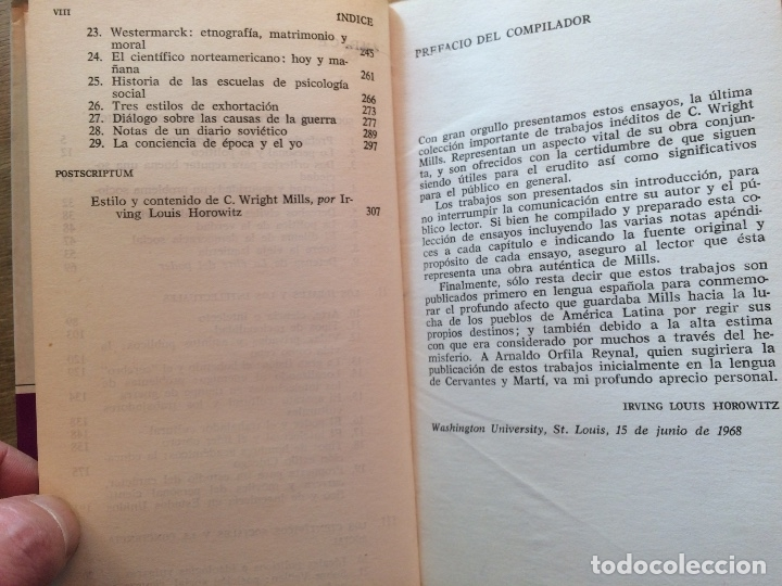 Libros de segunda mano: DE HOMBRES SOCIALES Y MOVIMIENTOS POLÍTICOS. C. WRIGHT MILLS. (FILOSOFÍA POLÍTICA) - Foto 4 - 121971807