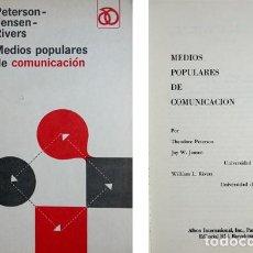 Libros de segunda mano: PETERSON, JENSEN (Y) RIVERS. MEDIOS POPULARES DE COMUNICACIÓN. 1968.. Lote 123424271
