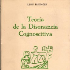 Libros de segunda mano: TEORÍA DE LA DISONANCIA COGNOSCITIVA / LEON FESTINGER. Lote 170660299