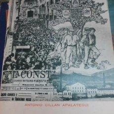 Libros de segunda mano: SOCIOLOGÍA ELECTORAL DE GUIPÚZCOA (1900-36) ANTONIO CILLAN APALATEGUI AÑO 1975. Lote 126857235