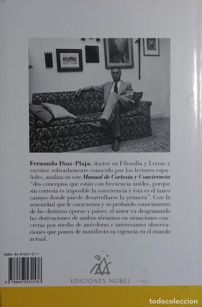 Libros de segunda mano: MANUAL DE CORTESÍA Y CONVIVENCIA / FERNANDO DÍAZ-PLAJA. OVIEDO : NOBEL, 1996. - Foto 2 - 128932979
