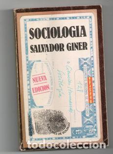 SOCIOLOGÍA, SALVADOR GINER (Libros de Segunda Mano - Pensamiento - Sociología)
