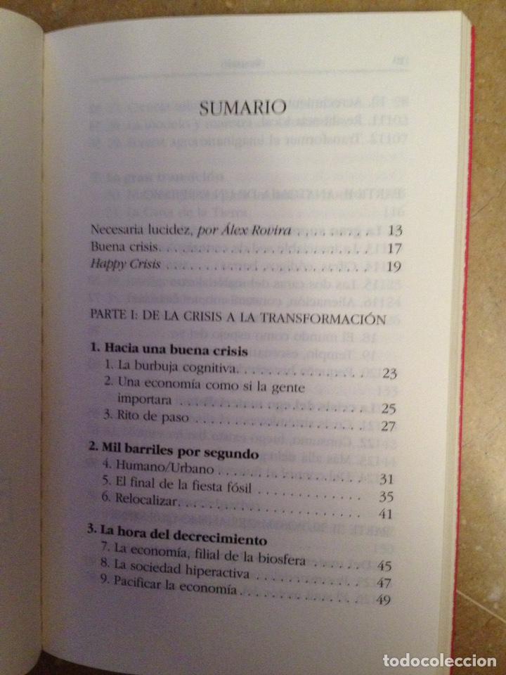 Libros de segunda mano: Buena crisis. Hacia un mundo postmaterialista (Jordi Pigem) - Foto 3 - 129658772
