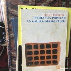 Libros de segunda mano: PEDAGOGÍA POPULAR EN GRUPOS MARGINADOS. VÍCTOR B. ÁLVAREZ. Lote 130588175