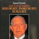 Libros de segunda mano: DON JUAN DE BORBÓN. HIJO DE REY, PADRE DE REY, NUNCA REY -- ISMAEL FUENTE ----REF-5ELLCAR. Lote 132114186