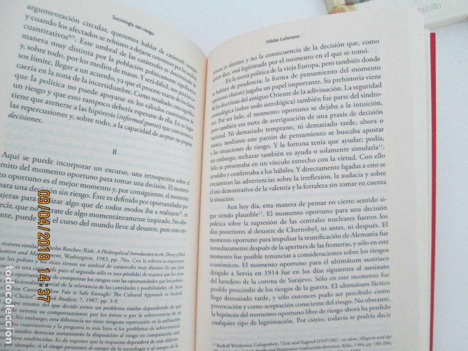 Libros de segunda mano: SOCIOLOGIA DEL RIESGO - NIKLAS LUHMANN - UNIVERSIDAD IBEROAMERICANA MEXICO 2006 - Foto 2 - 132601034