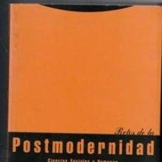 Libros de segunda mano: RETOS DE LA POSTMODERNIDAD. FERNANDO J. GARCIA SELGAS Y JOSE B. MONLEÓN. Lote 132634950