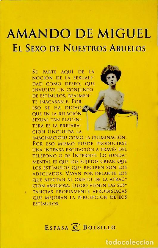 EL SEXO DE NUESTROS ABUELOS - AMANDO DE MIGUEL (Libros de Segunda Mano - Pensamiento - Sociología)