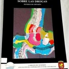 Libros de segunda mano: EL PUEBLO CANARIO OPINA SOBRE LAS DROGAS - 1990. Lote 133729726