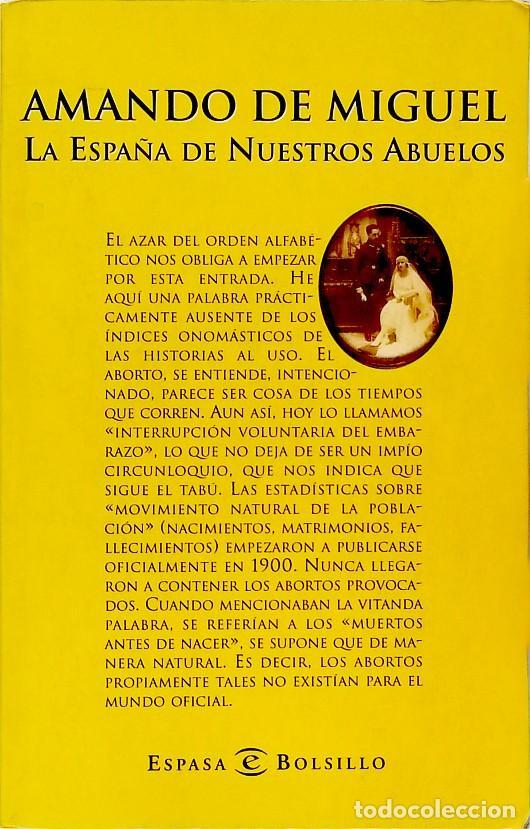 LA ESPAÑA DE NUESTROS ABUELOS - AMANDO DE MIGUEL (Libros de Segunda Mano - Pensamiento - Sociología)