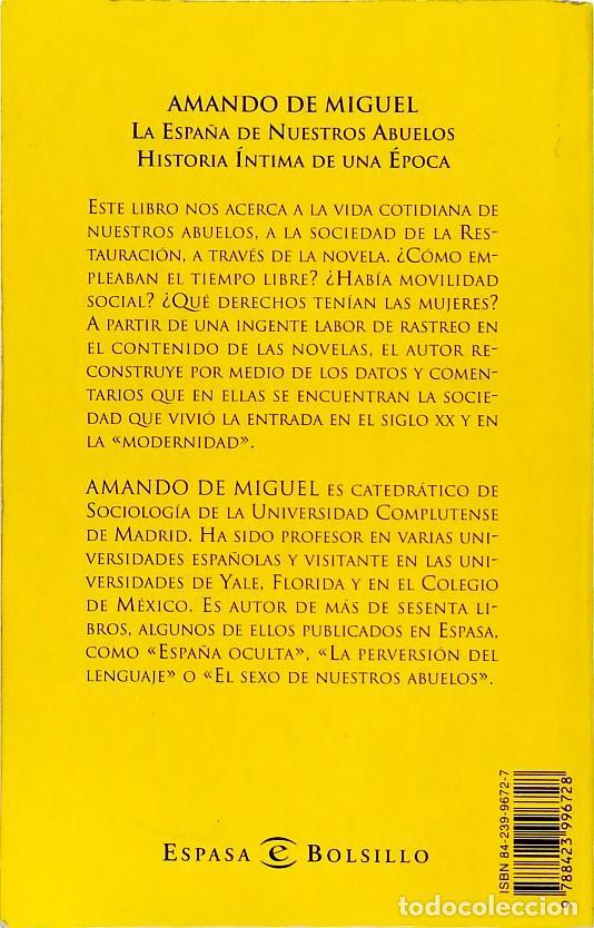 Libros de segunda mano: La España de nuestros abuelos - Amando de Miguel - Foto 2 - 133731390
