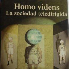 Libros de segunda mano: HOMO VIDENS. GIOVANI SARTORI. 1998. TAURUS. 160 PÁGINAS.. Lote 134139918