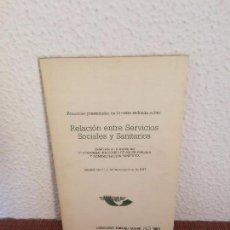 Libros de segunda mano: RELACIÓN ENTRE SERVICIOS SOCIALES Y SANITARIOS - SIGLO XXI. Lote 135245694
