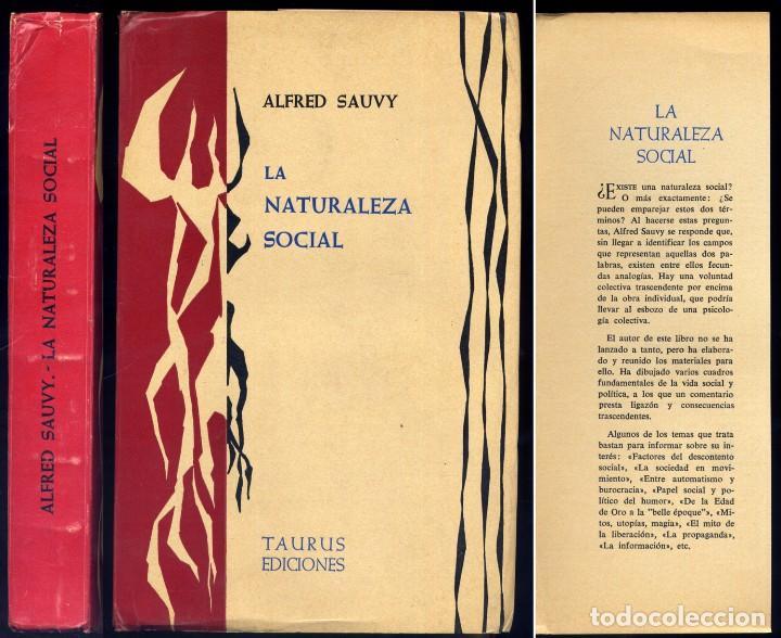 SAUVY, ALFRED. LA NATURALEZA SOCIAL. 1962. (Libros de Segunda Mano - Pensamiento - Sociología)