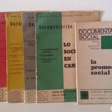 Libros de segunda mano: DOCUMENTACIÓN SOCIAL. CENTRO DE ESTUDIOS DE SOCIOLIGÍA APLICADA (CESA). CÁRITAS ESPAÑOLA. 7 NÚMEROS. Lote 136673230