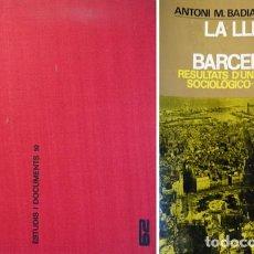 Libros de segunda mano: BADÍA. LA LLENGUA DELS BARCELONINS. RESULTATS D'UNA ENQUESTA SOCIOLÒGICO-LINGÜÍSTICA. VOL. 1ER. 1969. Lote 138098230
