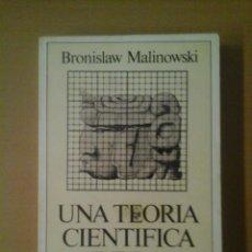 Libros de segunda mano: UNA TEORÍA CIENTÍFICA DE LA CULTURA. Lote 139023874