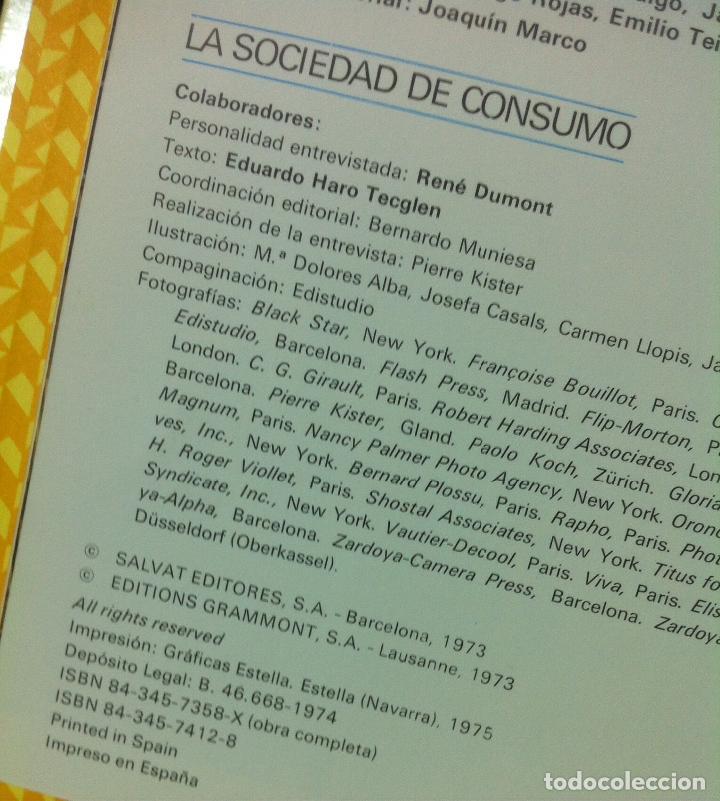 Libros de segunda mano: Eduardo Haro Tecglen. La sociedad de consumo. 1973 - Foto 2 - 139566382