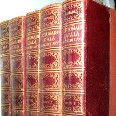 Libros de segunda mano: AMADES, JOAN - COSTUMARI CATALÀ - EL CURS DE L'ANY ( 5 VOLUMS - COMPLET) - BARCELONA 1950-1956 - MOL. Lote 139950498