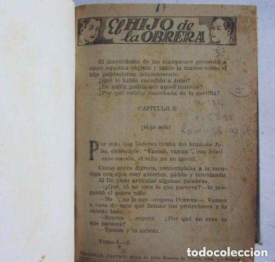 Libros de segunda mano: EL HIJO DE LA OBRERA, LUIS DE VAL. POR ENTREGAS 5 TOMOS ENCUADERNADOS MANUALMENTE. COMPLETA. EL HI - Foto 5 - 140892774