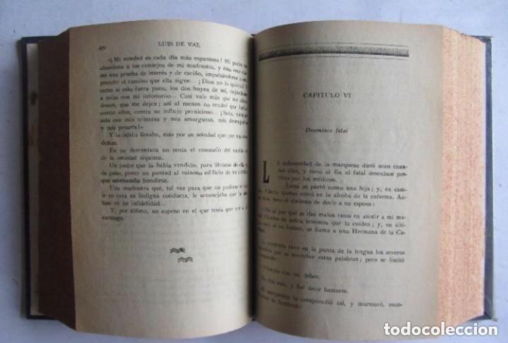 Libros de segunda mano: EL HIJO DE LA OBRERA, LUIS DE VAL. POR ENTREGAS 5 TOMOS ENCUADERNADOS MANUALMENTE. COMPLETA. EL HI - Foto 6 - 140892774