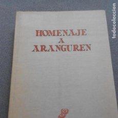 Libros de segunda mano: HOMENAJE A ARANGUREN. Lote 141110210