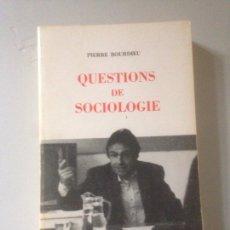 Libros de segunda mano: QUESTIONS DE SOCIOLOGIE. Lote 141245182