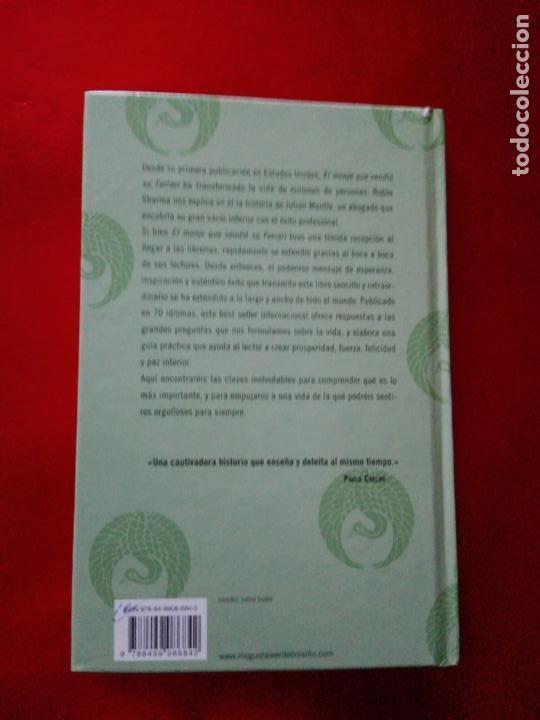 Libros de segunda mano: libro-el monje que vendió su ferrari-una fábula espiritual-robin s. sharma-debolsillo-2010- - Foto 3 - 141441486