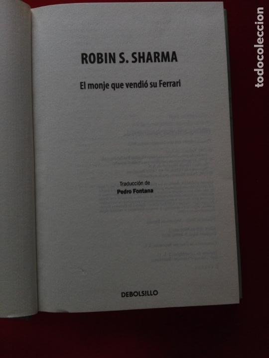 Libros de segunda mano: libro-el monje que vendió su ferrari-una fábula espiritual-robin s. sharma-debolsillo-2010- - Foto 4 - 141441486