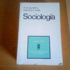 Libros de segunda mano: SOCIOLOGIA. Lote 142690170
