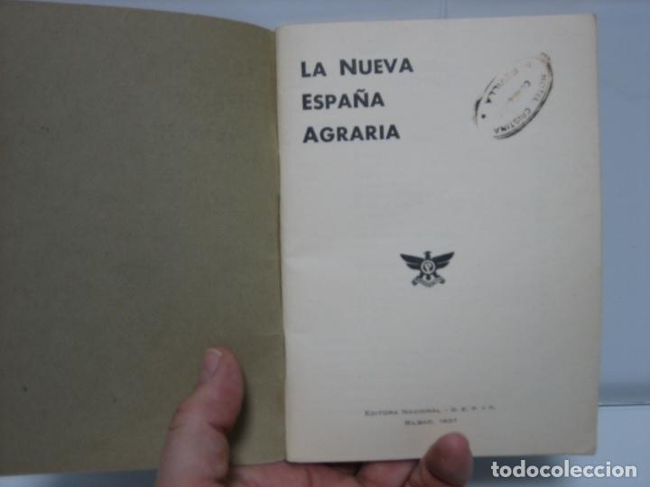 Libros de segunda mano: La nueva España agraria 1937. Bilbao - Foto 2 - 142851614