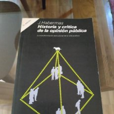 Libros de segunda mano: HISTORIA Y CRÍTICA DE LA OPINIÓN PÚBLICA, HABERMAS (GUSTAVO GILI). Lote 143459350