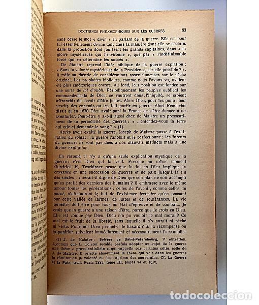 Libros de segunda mano: TRAITÉ DE SOCIOLOGIE. LES GUERRES. ELEMENTS DE POLEMOLOGIE - Foto 3 - 144066944